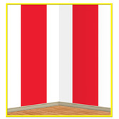 Birthday Party Decorations Red & White Stripes Backdrop Image