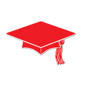 Graduation Decorations Red Mini Graduation Cap Cutouts Image