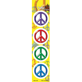 Birthday Party Favors & Prizes Mini Peace Sign Stickers Image