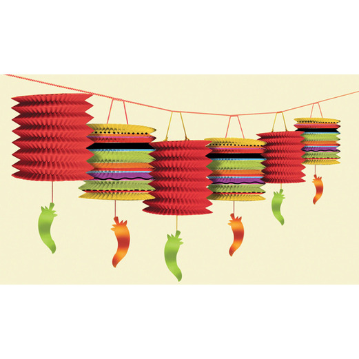 Cinco de Mayo Decorations Fiesta Lantern Garland Image