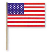 "4th of July Decorations 12"" x 18"" Cotton American Flag Image"