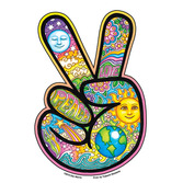 60s & 70s Favors & Prizes Peace Hand Sticker Image