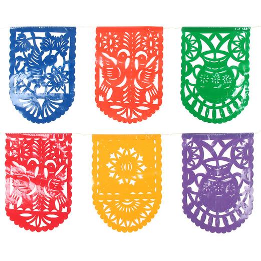 Cinco De Mayo Decorations Plastic Picado Mexican Party Flags Image