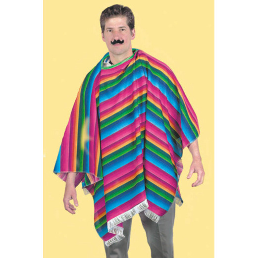 Cinco de Mayo Party Wear Polyester Serape Poncho Image