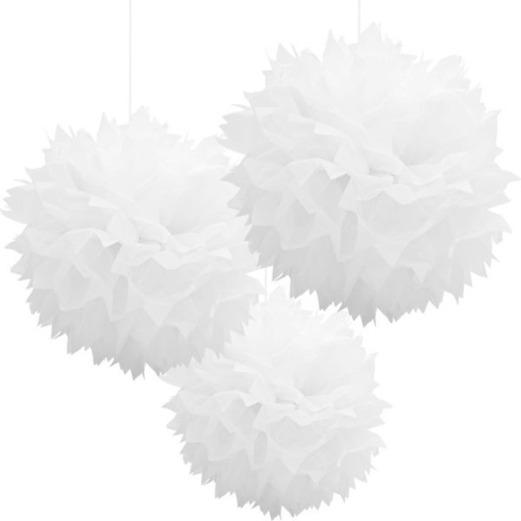 Wedding Decorations White Fluffy Tissue Balls Image