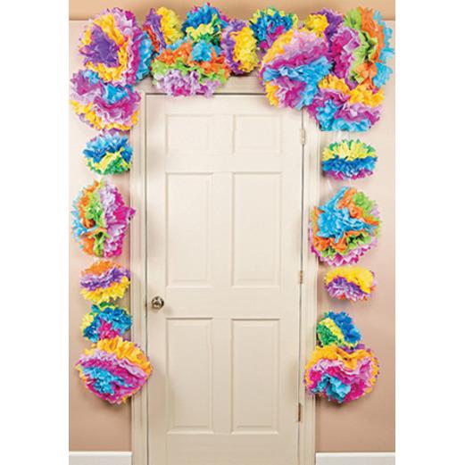 cinco de mayo decorations fiesta flower door border image - Fiesta Decorations