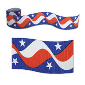 4th of July Decorations Patriotic Crepe Streamer Image