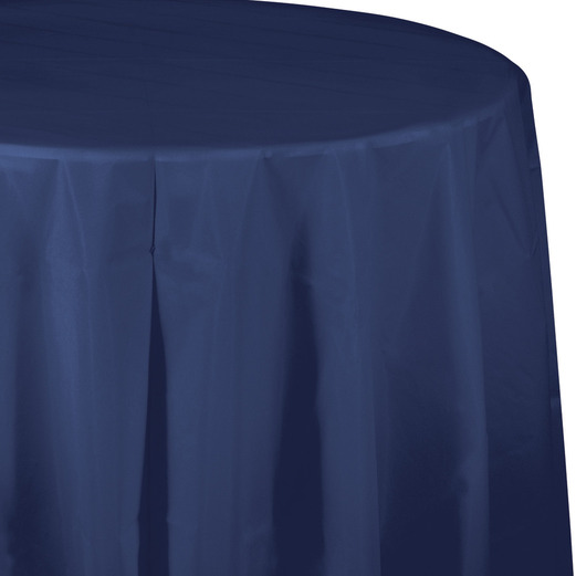 4th of July Table Accessories Round Table Cover Navy Blue Image