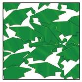 Graduation Decorations Green Grad Caps Confetti Image