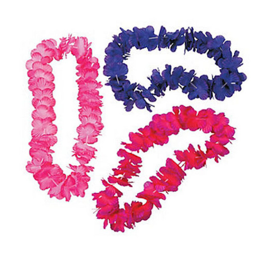 Luau Party Wear Bright Tonal Lei Image