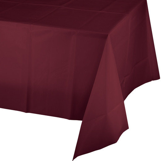 Valentine's Day Table Accessories Rectangular Table Cover Burgundy Image