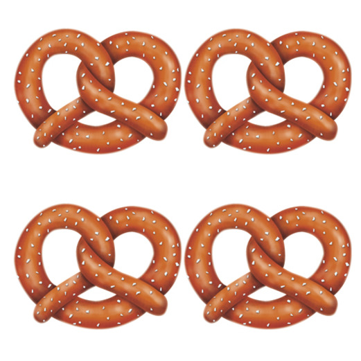Oktoberfest Decorations Pretzel Cutouts Image