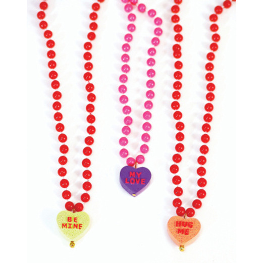 Valentine's Day Party Wear Sweetheart Bead Necklace Image