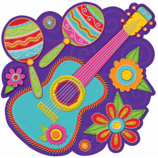 Cinco de Mayo Decorations Guitar and Maracas Cutout Image