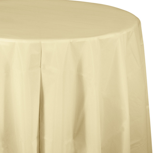Wedding Table Accessories Round Table Cover Ivory Image