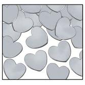 Wedding Decorations Silver Hearts Confetti Image