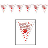 Valentine's Day Decorations Valentine's Day Pennant Banner Image