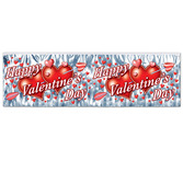 Valentine's Day Decorations Happy Valentine's Day Metallic Fringe Banner Image