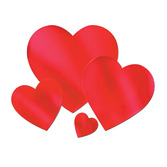"Valentine's Day Decorations 9"" Red Foil Heart Image"