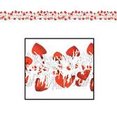 Valentine's Day Decorations Metallic Heart Garland Image