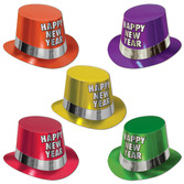 New Years Hats & Headwear Fluorescent Top Hat Image