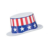 4th of July Decorations Mini Patriotic Top Hat Image