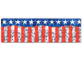 4th of July Decorations Metallic Patriotic Banner Image