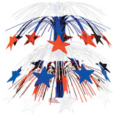4th of July Decorations Red, White and Blue Star Cascade Centerpiece Image