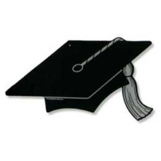 Graduation Decorations Black Graduation Cap Cutout Image