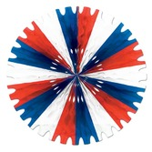 4th of July Decorations Red, White, and Blue Tissue Fan Image