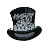 New Years Decorations Silver Topper Cutout Image