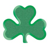 St. Patrick's Day Decorations Glittered Shamrock Cutouts Image