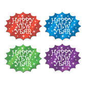 New Years Decorations Multicolored Happy New Year Cutouts Image