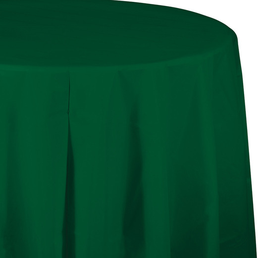 Mardi Gras Table Accessories Round Table Cover Hunter Green Image
