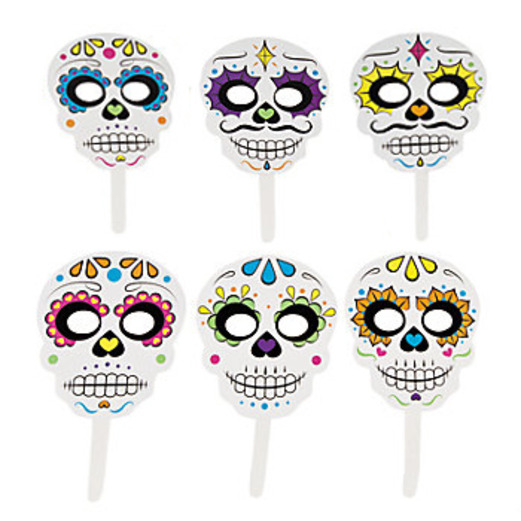 Day of the Dead Party Wear Day of the Dead Stick Masks Image