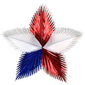 "4th of July Decorations 16"" Red, White and Blue Leaf Starburst Image"