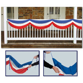 4th of July Decorations Red, White, and Blue Fabric Bunting Image