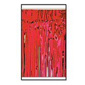 Christmas Decorations Red Metallic Fringe Drape Image