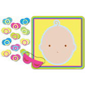 Baby Shower Decorations Pin the Pacifier Game Image