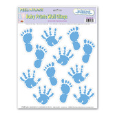 Baby Shower Decorations Baby Boy Print Wall Clings Image