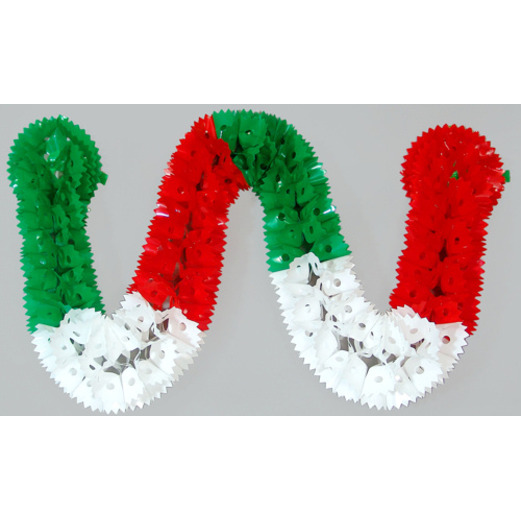cinco de mayo decorations red white and green plastic garland image - Mexican Party Decorations