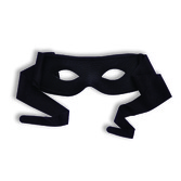 Mardi Gras Party Wear Black Mask with Ties Image