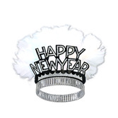 New Years Hats & Headwear Black and Silver Feathered New Year Tiara Image