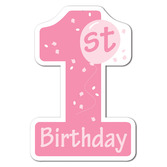Birthday Party Decorations Pink 1st Birthday Cutout Image