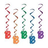 "Birthday Party Decorations ""18"" Whirls Image"