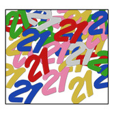 "Birthday Party Decorations ""21"" Confetti Multicolor Image"
