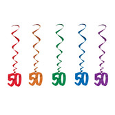 Birthday Party Decorations 50 Whirls Image