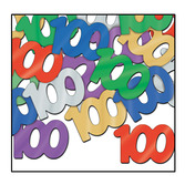 Birthday Party Decorations 100th Multicolored Confetti Image