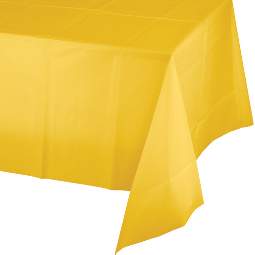 Thanksgiving Table Accessories Rectangular Table Cover Golden Yellow Image