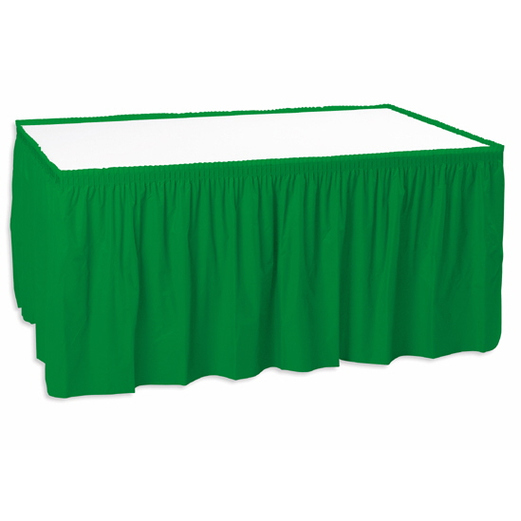 St. Patrick's Day Table Accessories Table Skirt Green Image